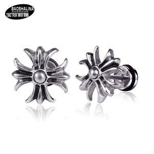 Superior produtos Cruz Arrefecer Stainless Steel Homens e Mulheres Titanium Steel Dumbbell Ear brincos