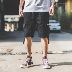 Мода Свободные Сплошной Цвет Homme Шорты Дизайнерские Брюки Мужские Летние Повседневные Пятиточечные Комбинезоны