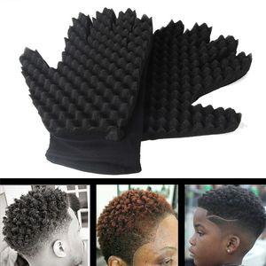 1PC Sponge Gloves Fashion Curls Coil Magic Tool Wave Barber Hair Brush Sponge Gloves Hair Curler Natural Curling Gloves