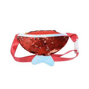 Девушки мультфильм Русалочка Fanny Pack пришивания талии обновления дышащий Fishtail Фанни пакеты Детский пляж Pures хранения сумки благосклонности партии LJJA3539