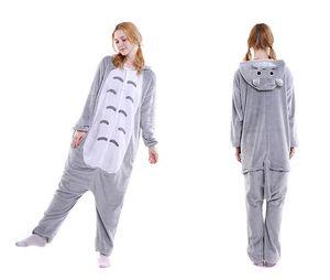Totoro pigiama caroset Onesies unisex Cartoon Animal Pajama Set Donna Uomo Cosplay Totoro Chinchilla Tutina Sleepwear
