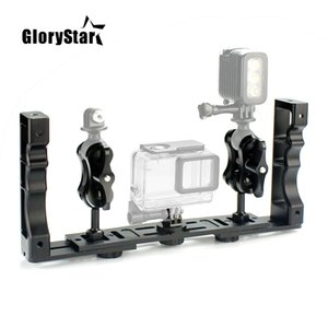 Aluminum Alloy Underwater Waterproof Shell Tray Housings Arm for Gopro Action Camera Holder Double Grip Dive Spare Parts
