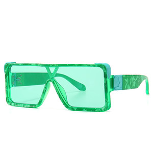 2020 Retro-Marke Mode Sonnenbrillen Männer und Frauen Modelle quadratische Designer Sonnenbrillen Siamesen Objektiv UV400 Gläser