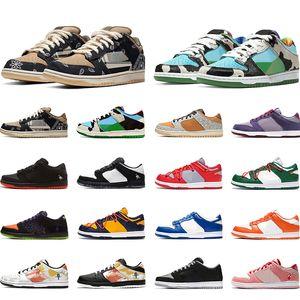 Nike Sb Dunk low Kaykay Ayakkabı Erkek Kadın Platformu Sneakers CLOT Soluk Fildişi gürültü Yapım Aşamasında Ne LA Erkek Eğitmenler Rahat Spor 36-45