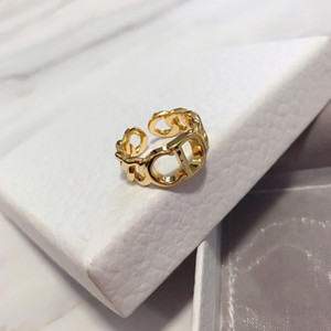 Hot sale D family fashion jewelry wholesale female temperament 2020CD letter earrings Band Rings D Home High version