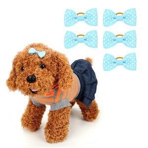 Dog Accessories Teddy Dog Head Flower 5Pcs Pack Pet Tiara Dog Headdress Teddy Rubber Band Bowknot Hairpin