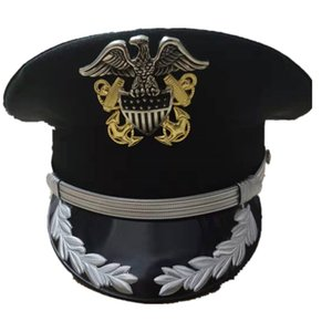 Free shipping new apparel & accessories security guard hard hats & caps men military hats police US army officer Visor eagle cap