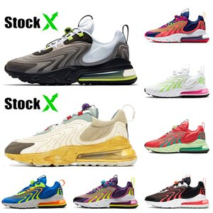 nike air max 270 react eng travis scott cactus trails Mens Womens Running Shoes Top Quality Melancia Vibes Volt Pink Formadores Sapatilhas Corredores