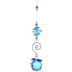H&D 30mm Blue Faceted Ball With Hook Chandelier Parts K9 Crystal Prisms Lamp Light Decor Tool Wedding Accessories Party Tool