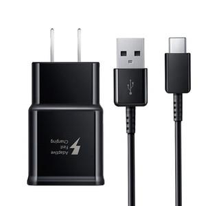 مهايئ شاحن الجدار السريع USB القابل للتكيف مع سلك كابل USB من النوع C لهاتف Samsung Galaxy S10 S10 Plus S9 S8 Note 8 9
