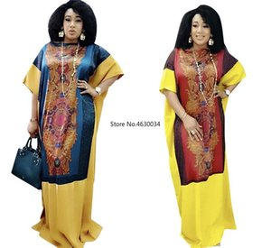 Long Maxi Dress 2020 African Dresses For Women Dashiki Summer Plus Size Dress Ladies Traditional African Clothing Dreess
