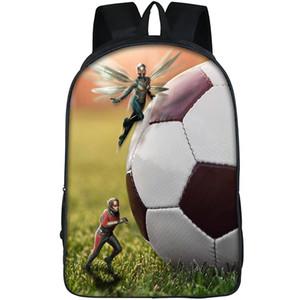 Осиный рюкзак Ant man daypack Janet van Dyne hero schoolbag футбол печать рюкзак спортивная школьная сумка открытый дневной пакет