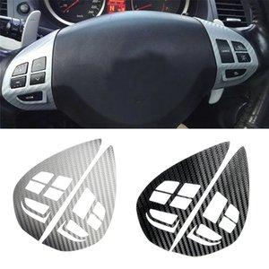 heap Automotive Interior Stickers Audio Cruise Control Button Steering Wheel Switch Button Sticker Cover Trim For Mitsubishi ASX Lancer O...