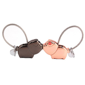 Cute Kissing Sweet Animal Charm Couple Keychain Key Ring Decoration Gift Gift, Souvenir, Daily Life, etc