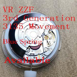 ZZF VR 3135 Movimento 3rd Generation Blue Spring Fix to Any 3135 Movimento Relógios Atacado Varejo