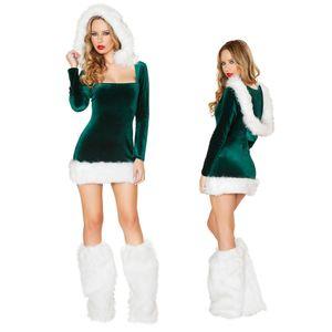 Little Helper Pixie Elf costume de Père Noël Noël Noël Femmes Fancy Dress Outfit L787