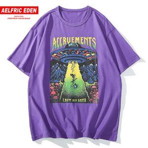 Aelfric عدن 2020 هوب هوب الصيف التي شيرت الرجال الشارع الشهير القطن فضفاض قصيرة الأكمام عارضة المتناثرة الكرتون طباعة T قميص المتضخم