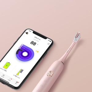 XIAOMI youpin Soocas X3 سونيك فرشاة الأسنان الكهربائية ترقية الكبار ماء بالموجات فوق الصوتية التلقائي فرشاة الأسنان USB قابلة للشحن الوردي 3011222