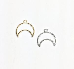 Eruifa 20 pz 20 * 16mm bella Hollow Moon testa in lega di zinco Gioielli FAI DA TE pendenti e ciondoli collana del pendente, Eearrings 2 colori