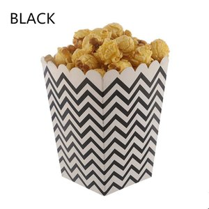12pcs High Quality Popcorn Boxes Stiff Paper Party Pop Corn Snacks Candy Favor Bags Wedding Decor Birthday Movie Party Tableware