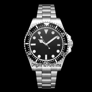 Verkauf Deep Black Ceramic Sea-Dweller Black Dial 116660 Authentic 2813 Automatische Herrenuhr Glide Lock Verschluss Uhren Saphir Zystal Stahl