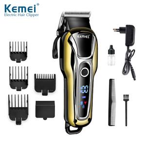 110-240V Saç Kesme Erkekler Elektrikli Saç Kesme Jilet Sakal Giyotin tıraş makinesi Saç kesimi maquina de cortar cabelo LCD33