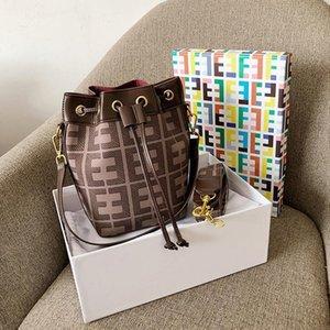 Fábrica tendencia mujeres al por mayor calle bolso crossbody impresión en color contraste cubo cuero bolsa bolso de la manera bolso de la manera impreso a cuadros