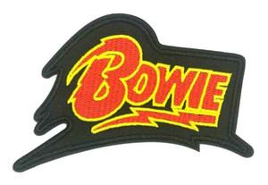데이비드 보위 록 음악 밴드 아이언 수 놓은 만화 패치 셔츠 키즈 선물 아기 셔츠 가방 바지 코트 장식