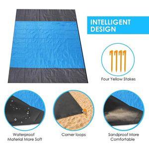 Picnic Beach Mat Pocket Blanket Outdoor Beach Mat Picnic Blanket,extra Large 210 X 200cm Waterproof Portable Camping Tent #4