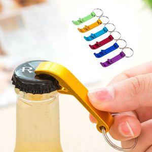 Creative Color Beer Opener Beer Opener Keychain Mini Beer Bottle Key Buckle Stainless Steel Bottle Opener