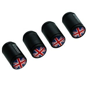 HAUSNN 4Pcs / Set Car Acessórios Válvula Caps UK England Flag Logo para MINI inteligente Tire Stem Covers Car Styling