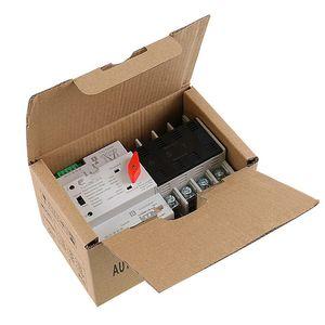 Бесплатная доставка Din Rail 110V 220V PC Автоматический переключатель 63A 100A Бытовая передача энергии переключатель 50 / 60Hz