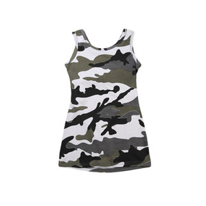 1-6Y Toddler Kids Baby Girls Summer Cotton Sleeveless Camouflage Mini Dress Sundress Party Casual Backless Dresses Outfits NEW