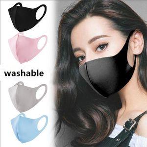 Waschbare Schutzgesichtsmasken Schwarz Wiederverwendbare Kinder Erwachsene Designer Anti-Staub-Gesichtsmasken Tuch Baumwollkind Mode Mund Masken FY9041