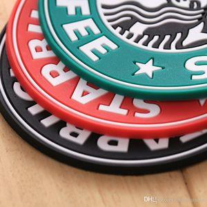 Per il 2017 nuovo silicone Coasters Cup Holder termo cuscino Starbucks mare-domestica caffè Tazza Coasters Mat Free Shipping