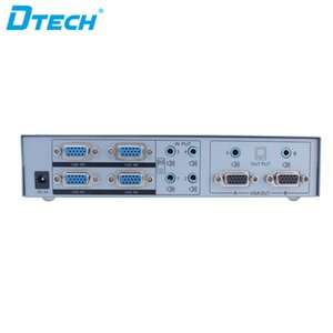 di vendita calda spina video Controllo remoto e riprodurre VGA swticher 350MHZ HD 1080P 4 * 2 4 Ingresso 2 Uscita 6 Porta VGA interruttore matrice audio