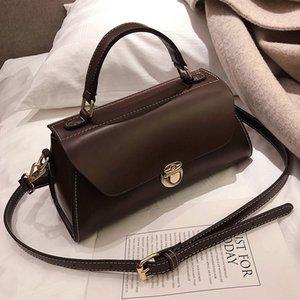 Vintage Purses Messenger Handbag Tote New Shoulder Bag Quality Lock Fashion 2019 Small PU Women's Female Bag Leather Rojok