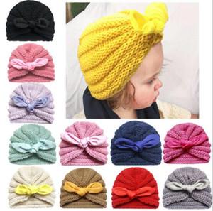 Multi Design d'hiver du nouveau-né bébé Bonnet avec Flower Design Solide Couleur Bébé Enfant Chapeau