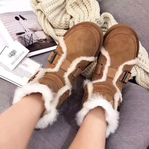 2019 New winter Classic snow Boots good fashion GG tall boots real women's bow Knee shoe free shipping 35-40