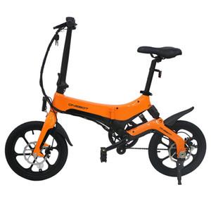 ONEBOT S6 portatile pieghevole bici elettrica 250W motore Max 25 kmh 6.4Ah Battery - Arancione