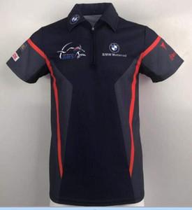 .BMW motosiklet yarış takımı sürme çifti kısa kollu erkek tişört rahat spor gevşek yaka Polo erkek gömleği