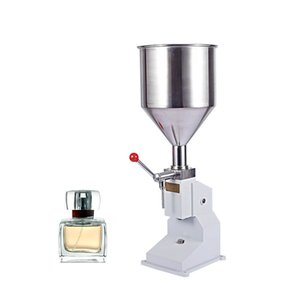 Qihang_top Bottle Filling Machine 5-50ml Manual Liquid Filler Stainless Steel Filling Machine for Cream Shampoo Cosmetic Bottler