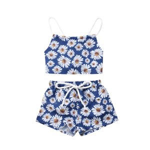 Cute neonato vestiti Set Baby Girl Floral Clothes Flower Crop Top Pantaloncini Pantaloni neonato Set abbigliamento Baby Outfits Girl Clothing