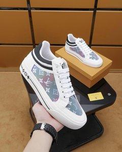 Men's shoes hot designer sports shoes top luxury flat bottom casual lace up men's shoes original shoe box