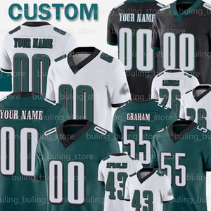 55 Brandon Graham Özel Jersey 43 Darren Sproles 65 Lane Johnson 71 Jason Peters 81 Terrell Owens 17 Alshon Jeffery Goedert Agholor