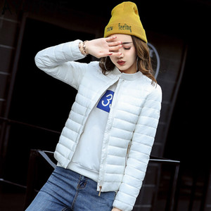 AYUNSUE Kadın Ceket Kısa Sonbahar Kış Kaban Kadınlar Parka 2019 Kore Aşağı Pamuk Yastıklı Mont Chamarras De Mujer KJ1061