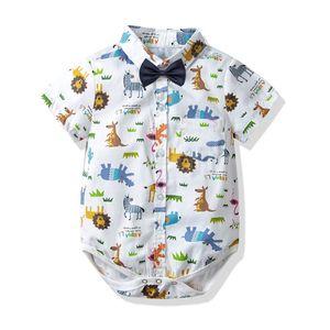 여름 아기 소년 옷 아기 romper 면화 만화 아기 유아 소년 디자이너 옷 신생아 Romper 유아 소년 옷 Aumpsuit A3137