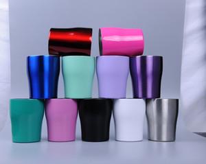 Garrafa Curvando copos 10 onças Stianless Aço Tumbler Multicolor Da cintura para copos de água Stemless Curvo Copa caneca de cerveja com tampa