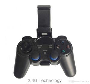 10PCS 2.4G لعبة تحكم لاسلكي غمبد المقود مصغرة لوحة المفاتيح النائية لصندوق التلفزيون العالمي والهواتف الذكية مع حامل الهاتف