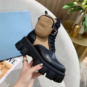 Yeni taşınabilir naylon torba Kadın Moda Martin Boots olan kadınlar kemeri için Rois Deri Naylon Çizme Martin ayakkabılar ayak bileği savaş botları koştu